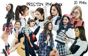 PRISTIN PNG Pack {Wee Woo Teaser Pictures} HQ by soshistars