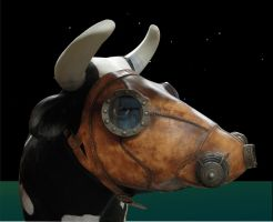 Cow in Gas Mask by TomBanwell