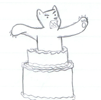 Bear in a Cake by Dillon-the-hedgehog