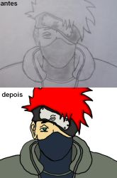 Antes e depois KAKASHI by tagchannel
