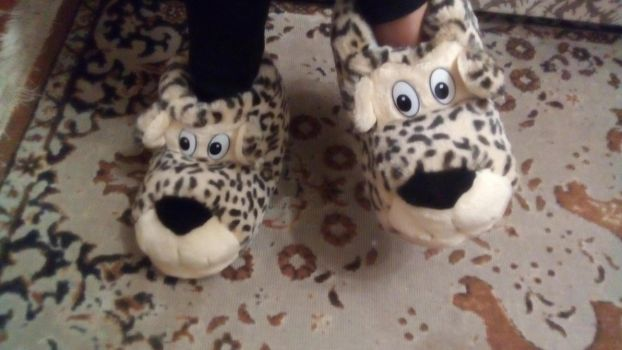 Leopard slippers by FordTaurus