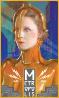 Metropolis Silent Movie Poster by JSHatton