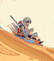 Rey a Day 37 Toboggan by michaelfirman