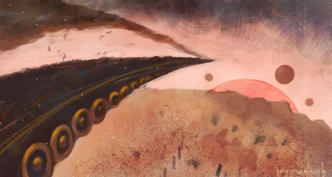 Speedpaint: Desert Train by jeremyjosh