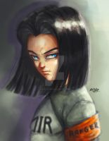 Android17 dragon ball super by Mark-Clark-II
