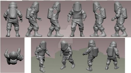toy figure 'Chemical hazard suit' by the-John-Doe