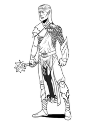 Elven Cleric by Timetower
