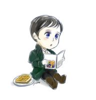 Baby Barnabas Reading by amoykid