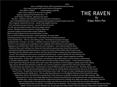 The Raven by Edgar Allen Poe by AxelThePossum
