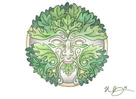 Greenman by Spiralpathdesigns