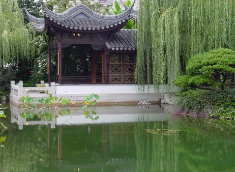 Chinese Garden Water Pond by Enchantedgal-Stock
