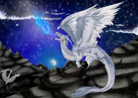 white dragon by Chrystal-Art