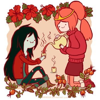 Adventure Time - Marceline and Princess Bubblegum by Maarika