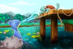 Lapras and Squirtle by SmudgedPixelsArt