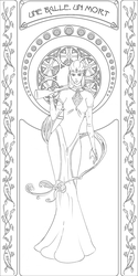Art Nouveau Widow Lines by teuthidaarchiteuthis