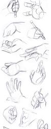 Anatomy Practice - More Hands by saxitlurg