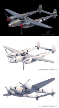 p-38 F-5 by rOEN911