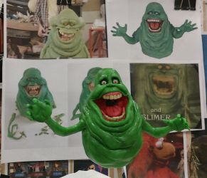 Slimer from Ghostbusters sculpt by Speezi