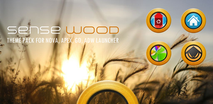 Sense Wood Theme Pack for Android by bagarwa
