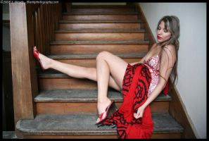 Angela on the steps by blankbirdproject