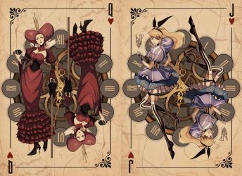 Alice in Wonderland Queen and Jack Steampunk Style by Misjin