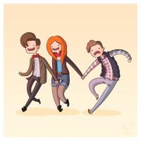 Adventure Time and Space! Eleventh Doctor by Blizarro
