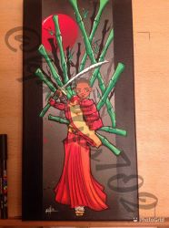 Afro samurai painting, part 3  by KPhillips702