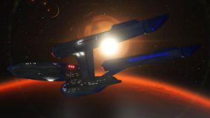 Discovery Enterprise Back View by PUFFINSTUDIOS