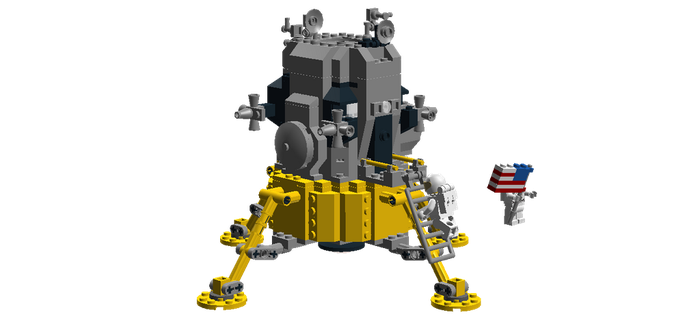 Apollo Lunar Module (Apollo 11) 2 by Dr-Doomster