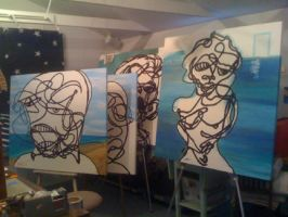 unfinished outlines of four by longleather