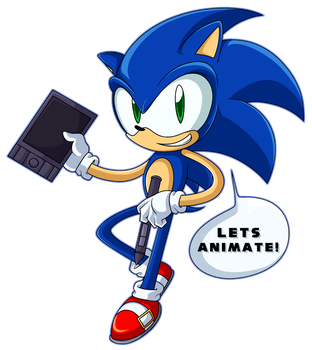Animate-A Sonic by IVOanimations