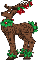 Apple Tree Deer Adoptable (CLOSED) by PastelGlaze