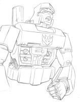 Megatron Sketch by Flyler