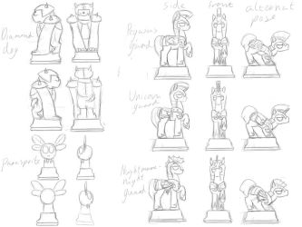 MLP chess Set: Pawn Pieces by EnigmaticElocution
