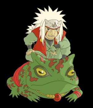 Jiraya Chibi - colored by Gomar83