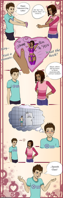 Sheen+Libby Valentine Comic by Acaciathorn