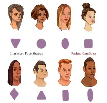 Character Face Shapes by taho