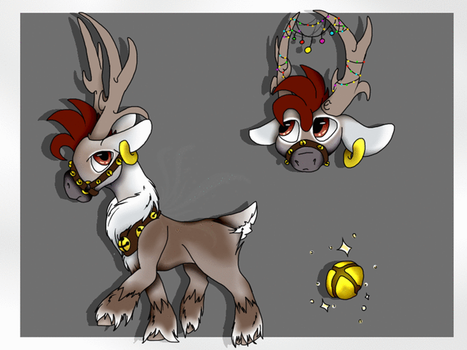 Magic/Christmas Caribou Adopt OPEN by Darumemay