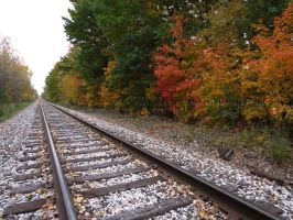 .autumn on the tracks. by Foozma73