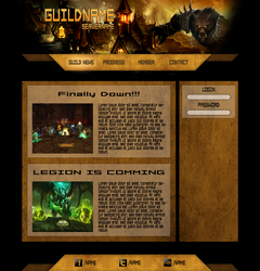 WoW Guild Page Layout by NannocDesign