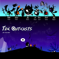 The Outcasts-Character lineup by DragonFiresongs