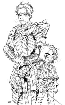 Brienne and Arya by Urz-Rulez