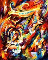 Clown And Canary by Leonid Afremov by Leonidafremov