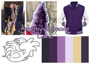 Amethyst Geode Cake Collage by PonOfGriffia