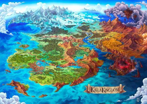 Fantasy World Map by Nerkin