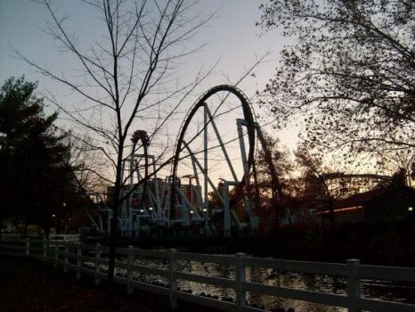Great Bear at Hershey Park around Sunset by AprilElyse