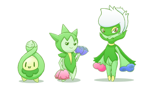 Budew evolution Line by KawaiiPrincess64