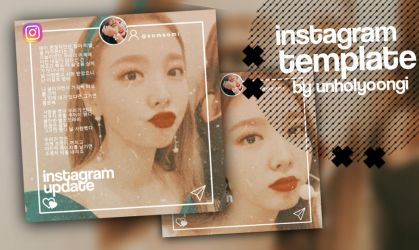 Instagram Template Png by Unholyoongi