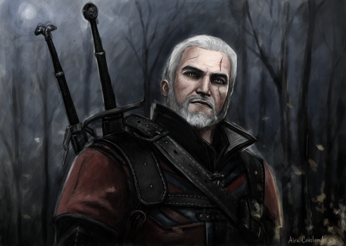 Geralt of Rivia by AiraCousland