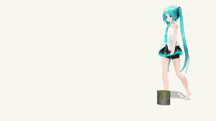 Stuck in Sticky Glue Trap for MMD[miku][barefoot] by DoltMePly